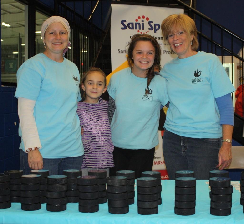 4 female volunteers
