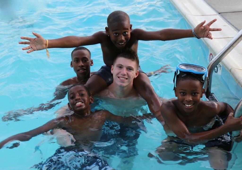 ryan and friends swim
