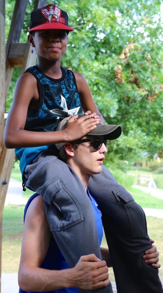 shoulder ride