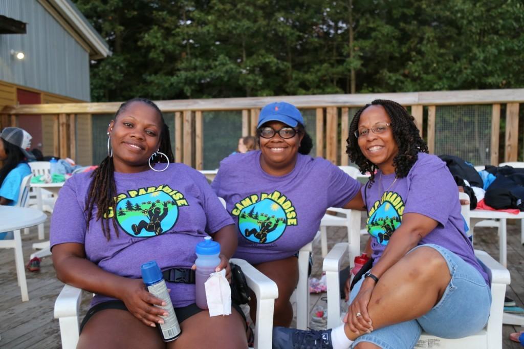 volunteers at pool
