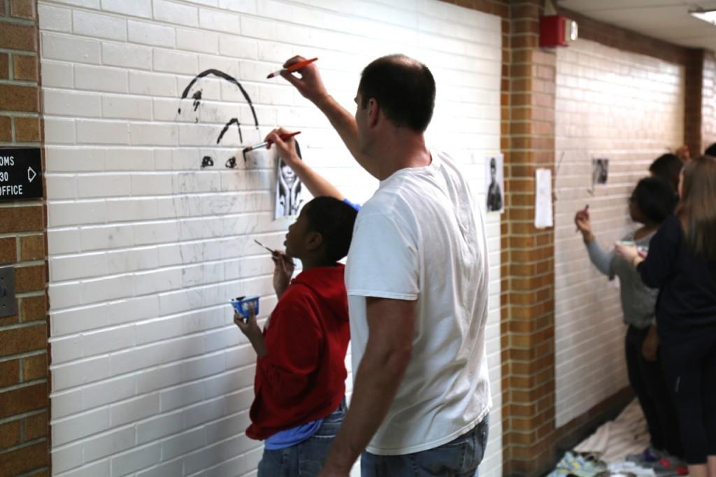 bw mural beginning